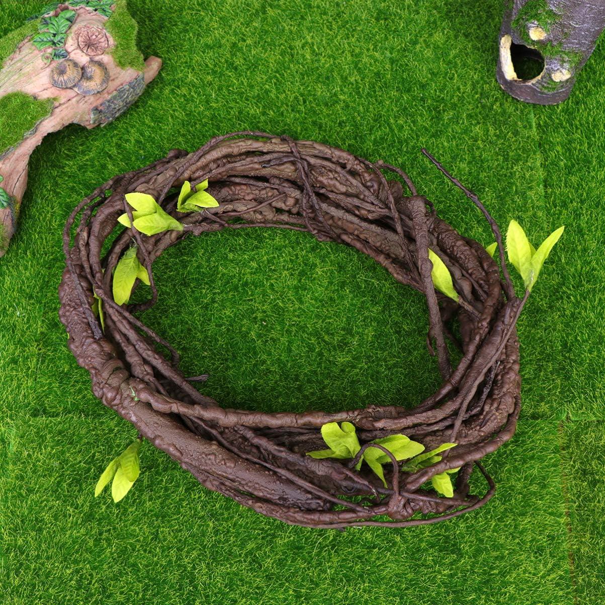 62.9 Pulgadas POPETPOP vides de Reptil decoraci/ón de vides de la Selva para lagartos Ranas Serpientes y Jaula de camale/ón vides de terrario dise/ño as/éptico y Ajustable