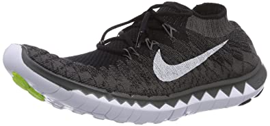 outlet store d3f86 30e54 Nike Free 3.0 Flyknit, Men Running Shoes, Black (Black White-Midnight
