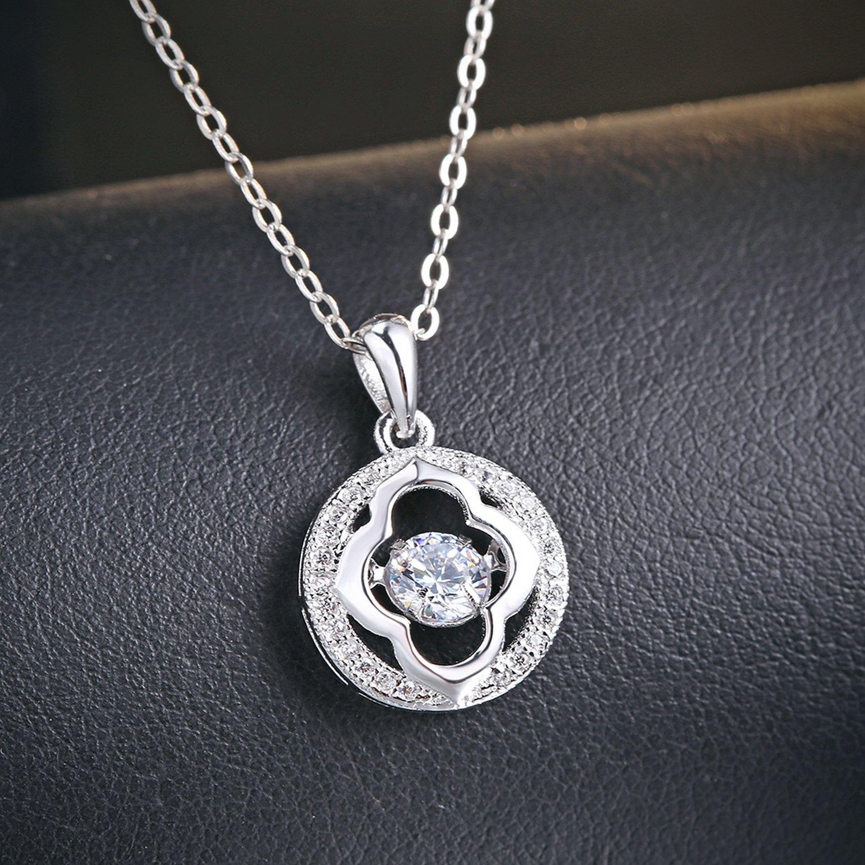 CS-DB Pendants Dancing Stone Design Silver Necklaces