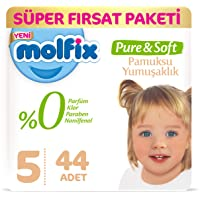 Molfix Pure&Soft Bebek Bezi, 5 Beden, 44 Adet
