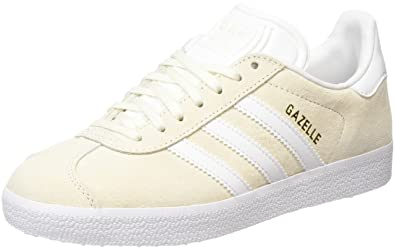 adidas gazelle all white mens