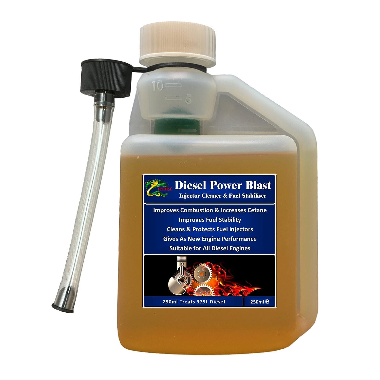 Hydra Diesel Inyector de alimentació n Blast Cleaner aditivo combustible 250 ml Treats up to 375 L Hydra International Ltd