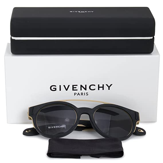 3ea1885737719 Sunglasses Givenchy Gv 7017 N S 02M2 Black Gold IR gray blue lens at Amazon  Men s Clothing store