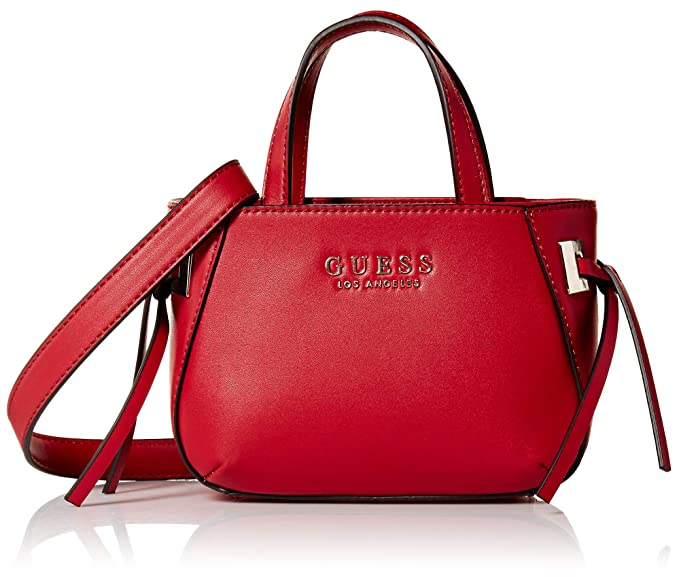 GUESS Women's Lizzy Mini Tote Bag (Red):