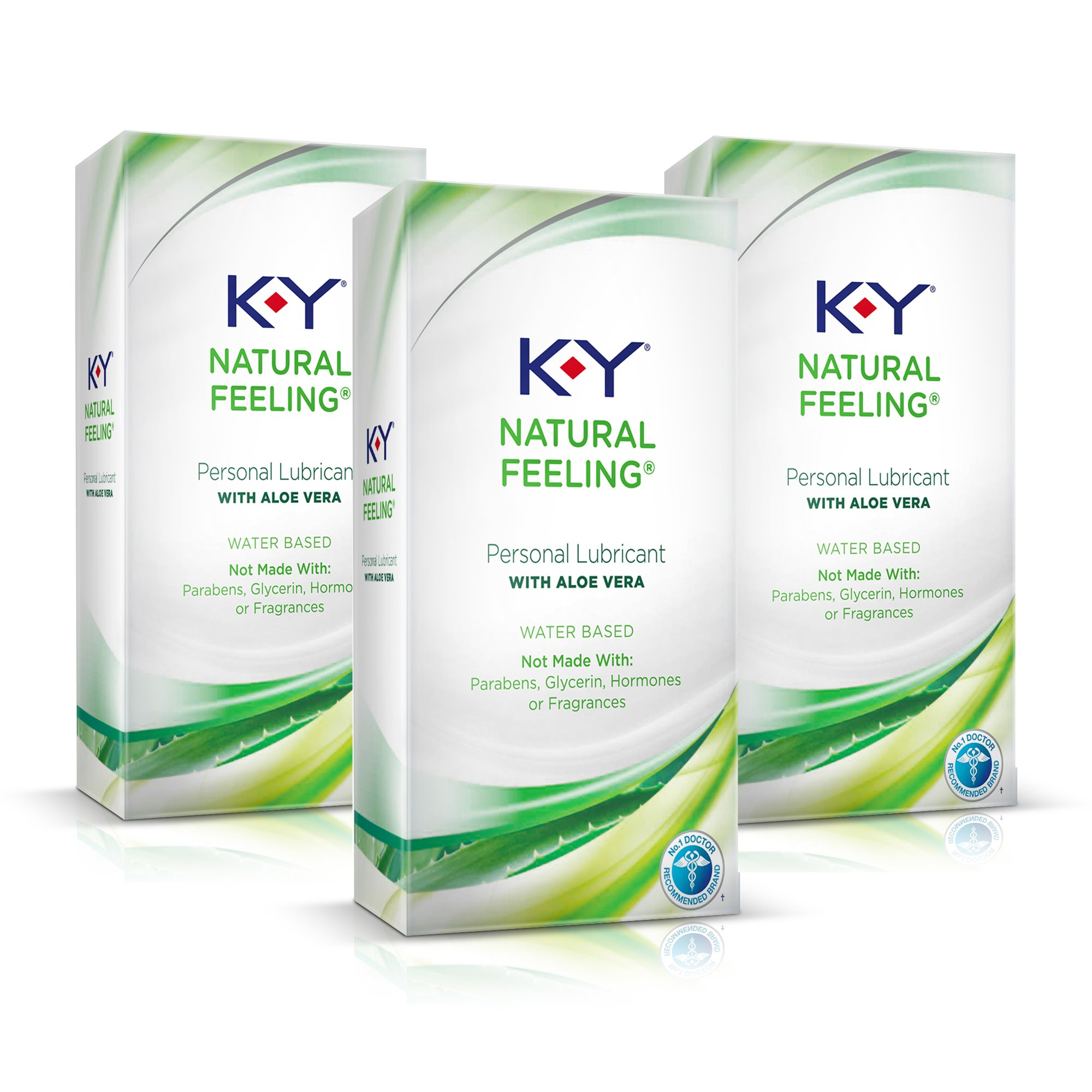 K-Y Natural Feeling with Aloe Vera Lubricant, 1.69 oz. ( Pack of 3)
