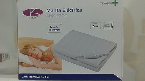 MANTA ELÉCTRICA CALIENTA CAMAS MEDIDAS 150X X 80 CM POTENCIA ...