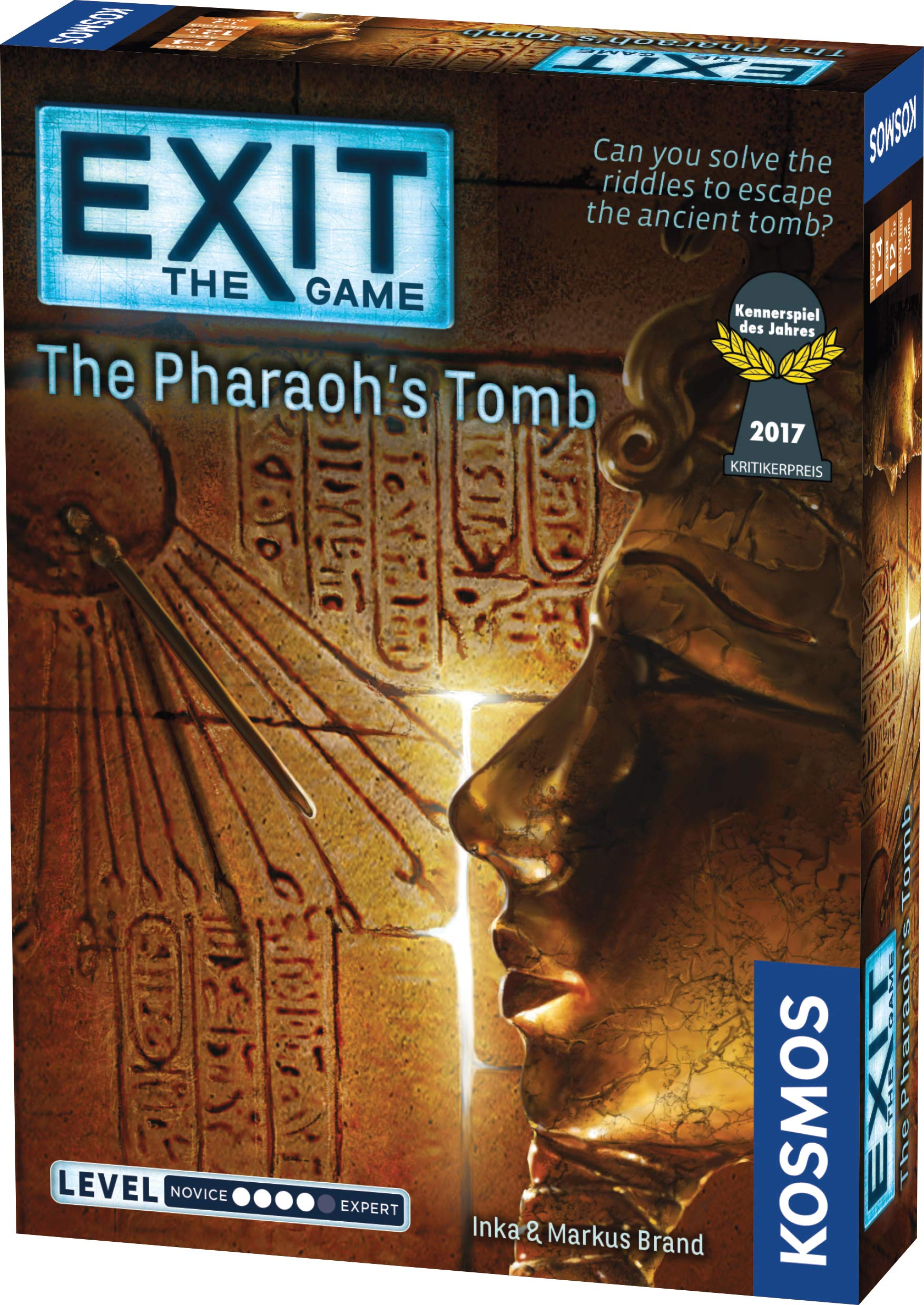 Exit: The Pharaoh's Tomb | Exit: The Game - A Kosmos Game | Kennerspiel Des Jahres Winner | Family-Friendly, Card-Based at-Home Escape Room Experience for 1 to 4 Players, Ages 12+                ThinkFun Escape the Room Stargazer's Manor - An Escape Room Experience in a Box For Age 10 and Up                Escape Room The Game, Version 2 - with 4 Thrilling Escape Rooms | Solve The Mystery Board Game for Adults and Teens