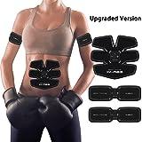 Electroestimulacion Muscular Cinturón de Abdominales los Músculos Abdominales/Brazo fitness/Cinturon para Adelgazar--3 dispositivos de fitness