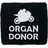 Brake Fluid Reservoir Cover Sock for Motorcycles, Sporbikes and Gifts by Moto Loot (Organ Donor)