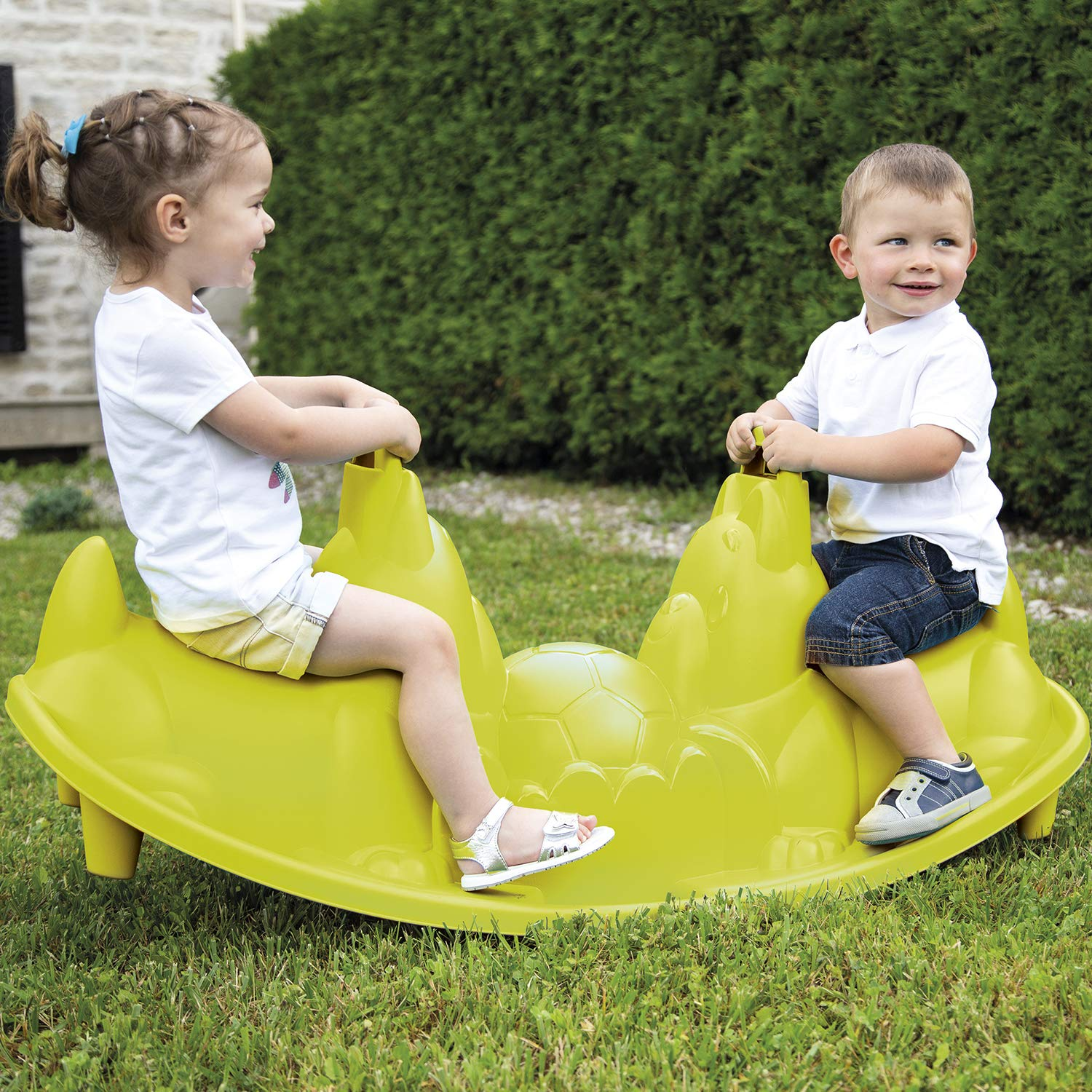 Smoby Swing Seat for Children, Green Dog (830201), Colour