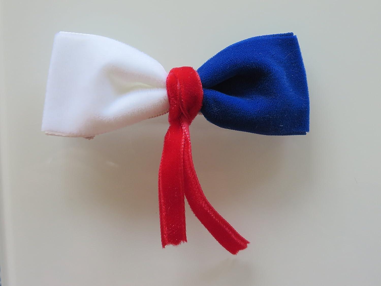 Jouet cadeau Collier nœ ud papillon blanc rouge bleu en velours pour lapin, chat, cochons d'inde, animaux de compagnie cochons d' inde
