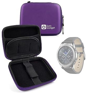 DURAGADGET Fantástica Funda Rígida para Smartwatch Garmin Forerunner 35 / Samsung Gear S3 / Tomtom Touch/Adventurer/Runner 3 + Mini Mosquetón - Morada