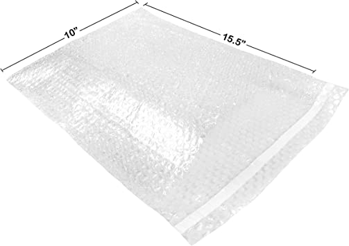 """10x15.5/"""" Bubble Out Bags Protective Wrap Pouches Cushioning Clear Self Seal DEAL"""
