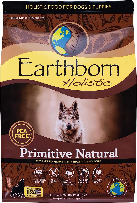 Earthborn Holistic Primitive Natural Grain Free Dry Dog Food, 25 lb