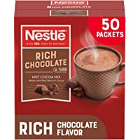 Nestle Hot Chocolate Packets, Hot Cocoa Mix, Rich Chocolate Flavor, Made with Real Cocoa, 50 Count (0.71 Oz each), 35.5…