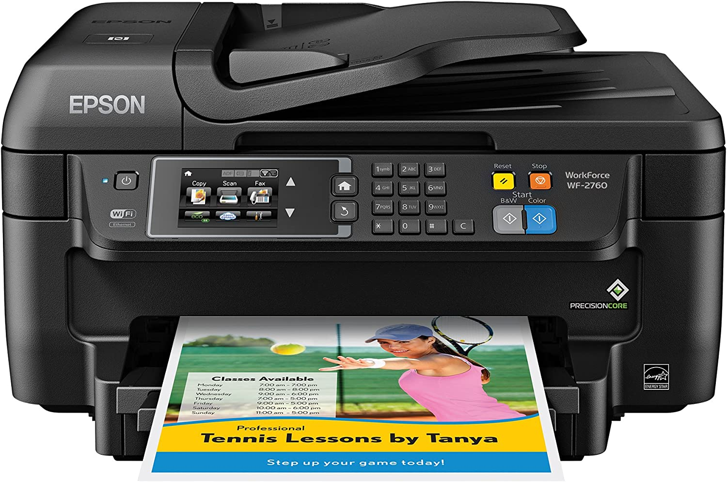 Epson WF-2760 All-in-One Wireless Color Printer