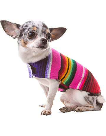 Handmade Dog Poncho from Mexican Serape Blanket - Dog Clothes - Coat - Costume - Sweater