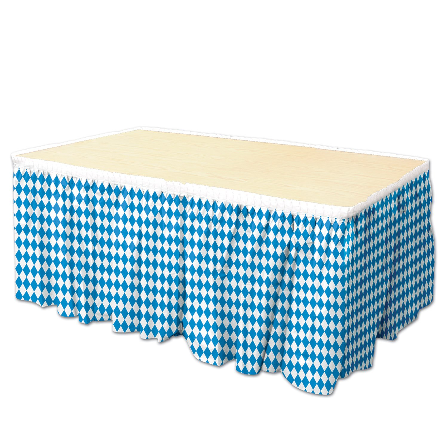 Oktoberfest Table Skirting, 29'' x 14', Blue/White 1/Pkg Pkg/12 by PMU