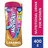 Women's Horlicks Health and Nutrition Drink, 400 gm, Caramel Flavor Jar (No Added Sugar)