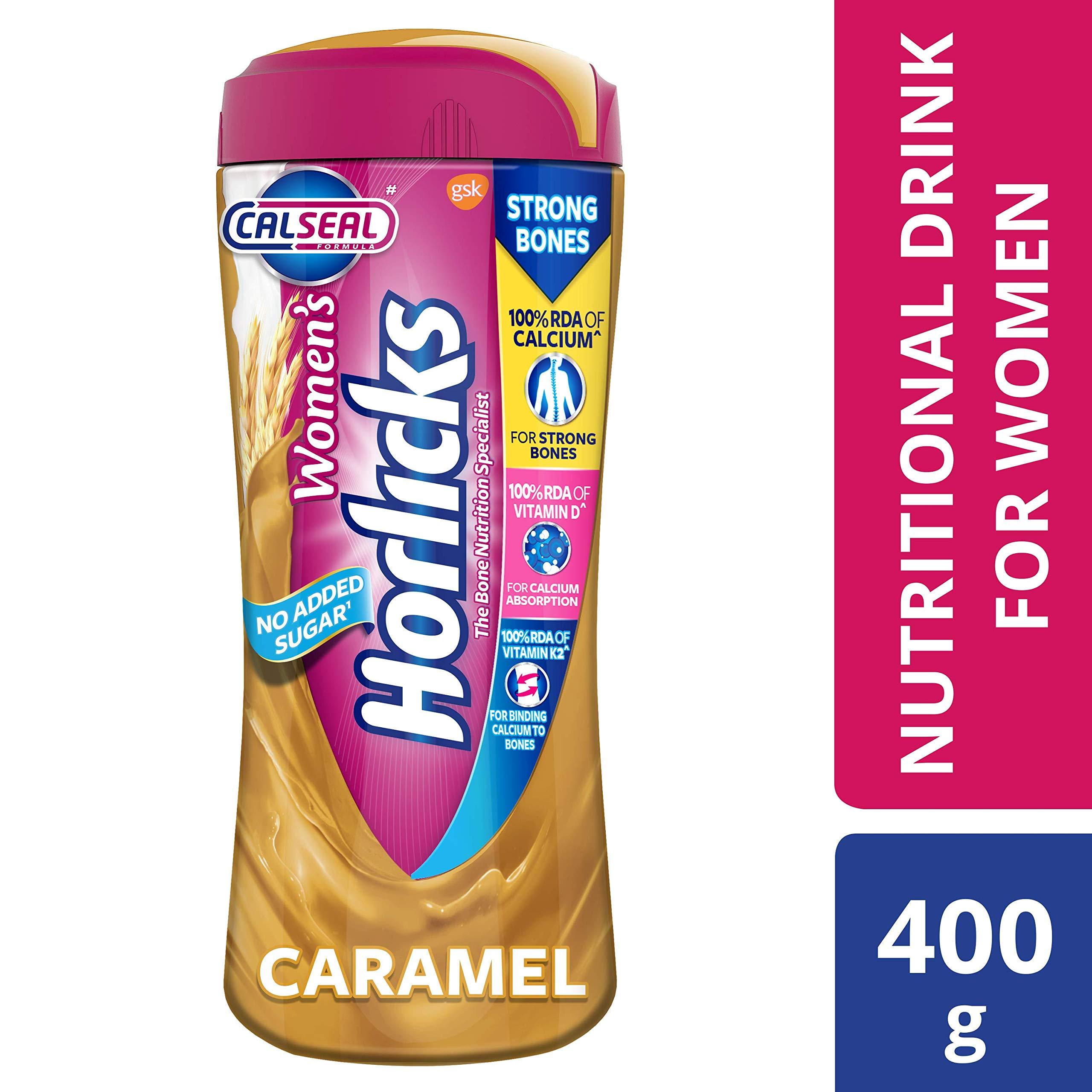 Horlicks Women's Health and Nutrition drink - 400g (Caramel flavor) product image