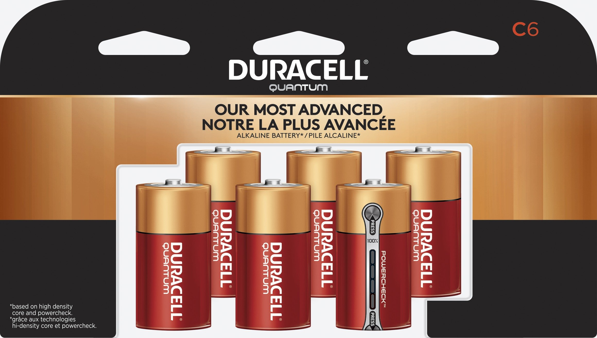 Duracell - Quantum C Alkaline Batteries - long lasting, all-purpose C battery for household and business - 6 count
