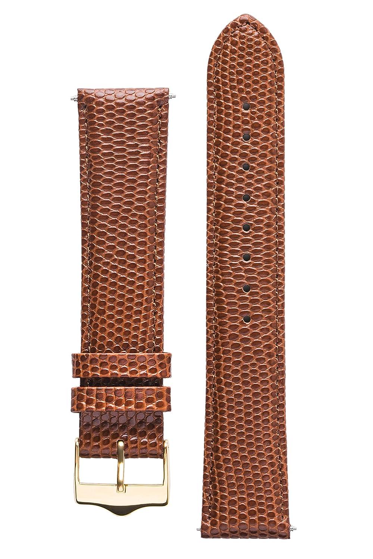 Signature Dragon腕時計バンド。交換用時計ストラップ。Genuineレザー。ゴールドバックル 20 mm ブラウン B01N4GLQBE 20 mm|ブラウン ブラウン 20 mm