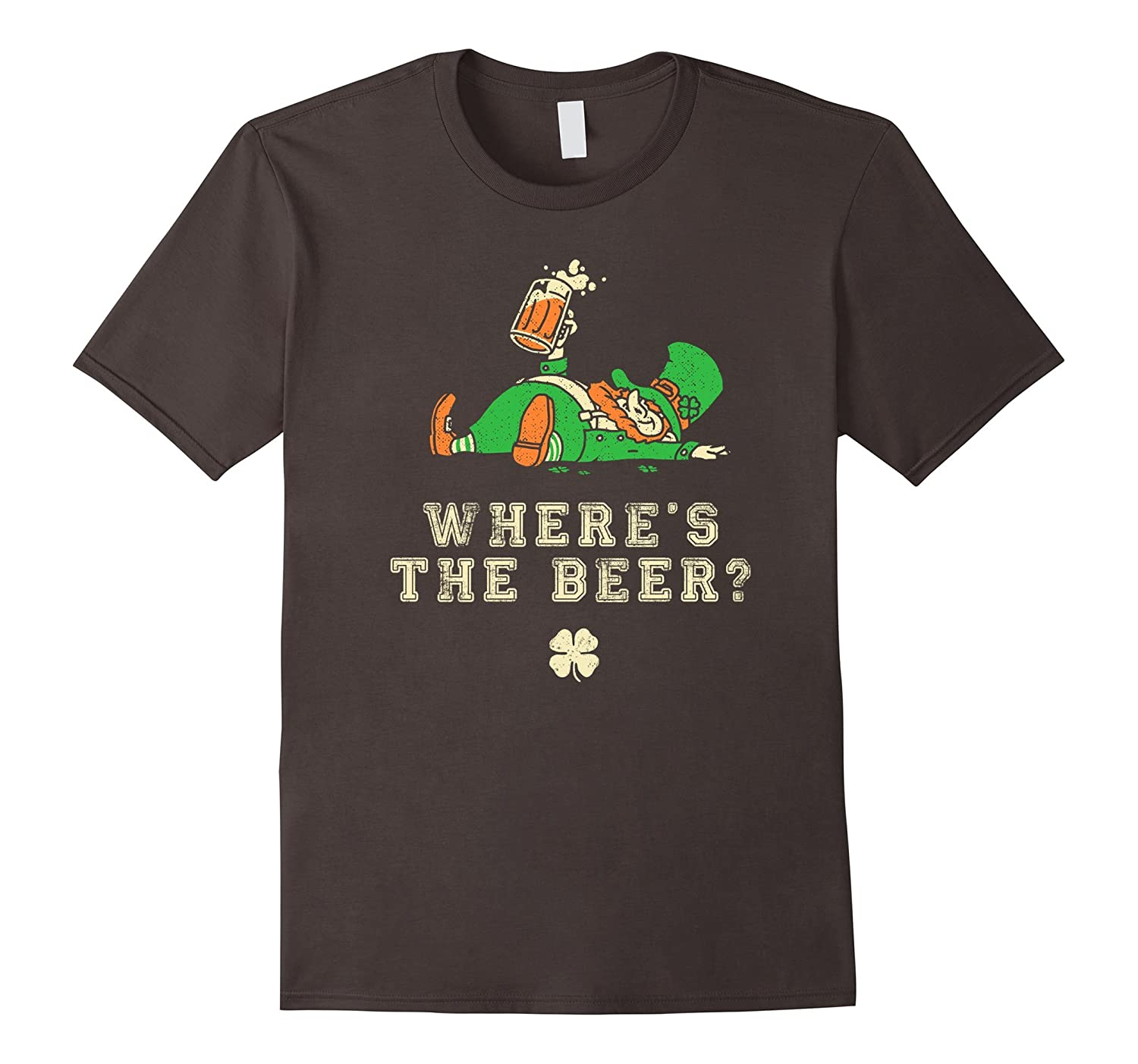 St Patricks Day Funny Shirt - Wheres the Beer?-TD