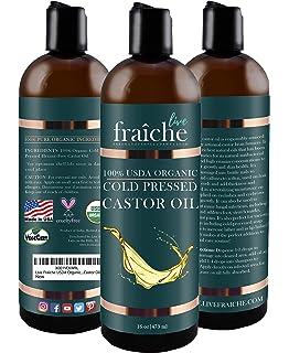 Amazon.com: USDA - Aceite de ricino orgánico para pestañas y ...