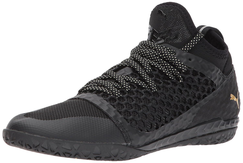 PUMA Men's 365 Ignite Netfit CT Soccer Schuhe, schwarz schwarz-Gold Weiß, 7 M US