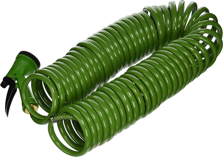 Flexon CH1250N Coil Garden Hose, 50ft, Green