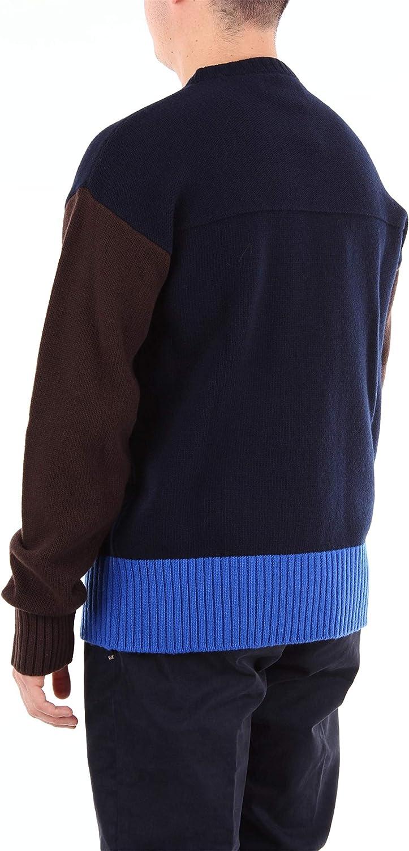 Marni GCMG0081Q0S16863 Girocollo Uomo Navy/Brown/Blue