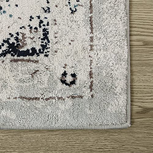 LNC Area Rug, Area Rugs 5 x 8 Super Soft Polyester Area Rug Traditional Vintage Bohemian Retro Carpet for Bedroom, Living Room, Dining Room A034593