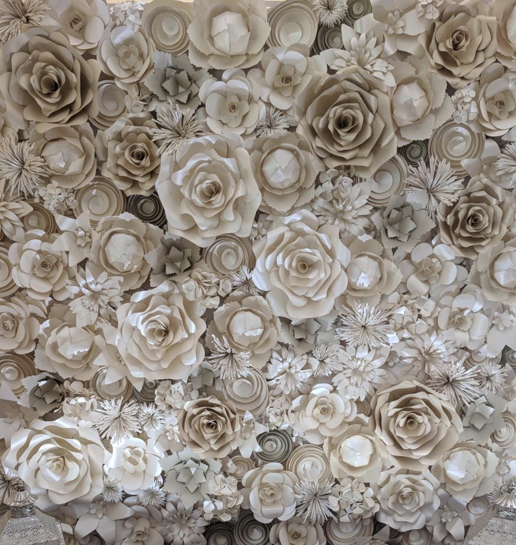 Paper Flower wall DIY You will receive flowers for this backdrop 8 feet by 8 feet