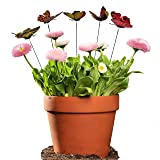 Antallcky 100pcs Butterfly Stakes Outdoor Yard