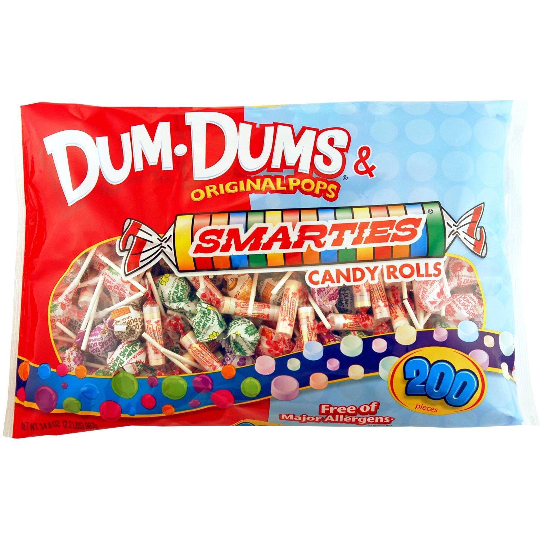 Dum-Dum Pops and Smarties 200 count bag by Dum-Dum Pops