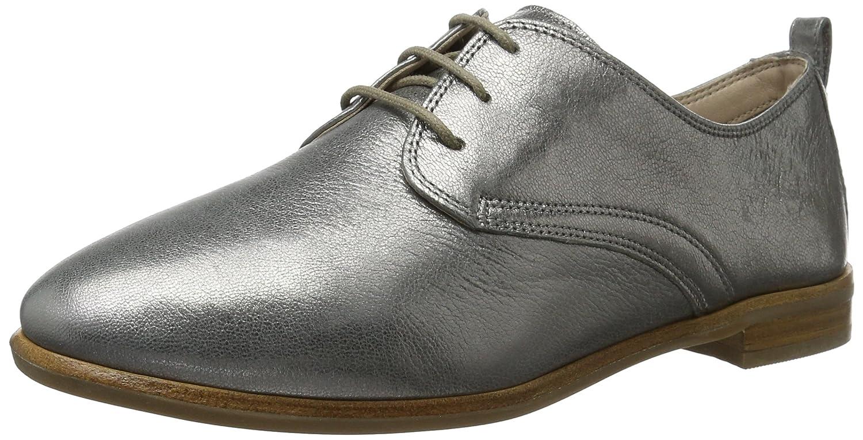 Clarks Alania Posey, Zapatos de Cordones Derby para Mujer 40 EU|Gris (Silver Metallic)
