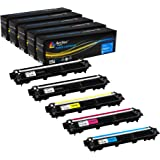 Arthur Imaging Compatible Toner Cartridge Replacement for Brother TN221 TN225 (2 Black, 1 Cyan, 1 Yellow, 1 Magenta, 5-Pack)