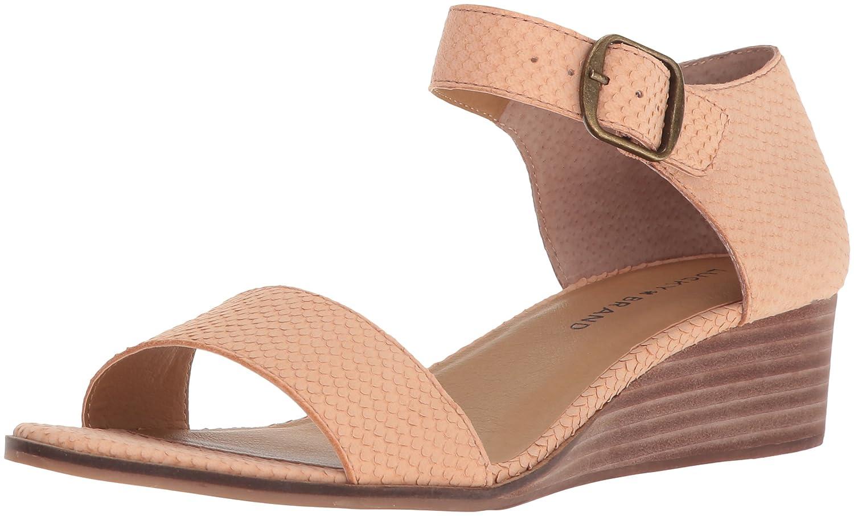 Lucky Brand Women's Riamsee Wedge Sandal B077G7J3YZ 7 B(M) US|Amber Light