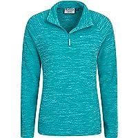 Mountain Warehouse Snowdon Fleecejacke für Damen - Pillingfrei, Leichter Sweater, halber Reißverschluss, atmungsaktiv, schnelltrocknend - Für Wandern, Reisen