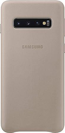 Leather Cover Für Galaxy S10 Grau Elektronik
