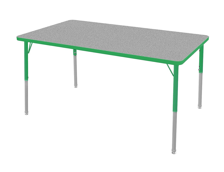 Marco Group MGA2250-22-ABLK 42 x 60 Rectangular Adjustable Height Classroom Activity Tables Black-Edge Black-Leg Toddler Size 16-24 Dry Erase-Top