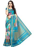SAREE MALL art silk Saree With Blouse Piece (SRJ008_Blue_Free Size)