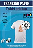 PPD A4 Inkjet T Shirt Transfer Paper for Light and White Fabric X 10 Sheets