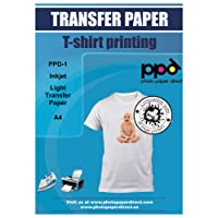 PPD Papel de transferencia de tinta A4 para camisetas de blancas y claras-10 hojas