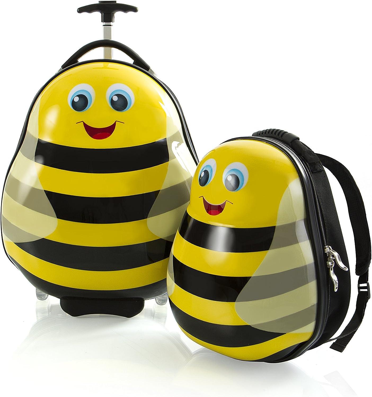 HEYS Kids 2Pc Lightweight Luggage /& Backpack Set Travel Tots Ladybug