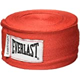 Everlast EVER-4456R Level 2 Cotton/Spandex Boxing Hand Wraps - 180 Inches