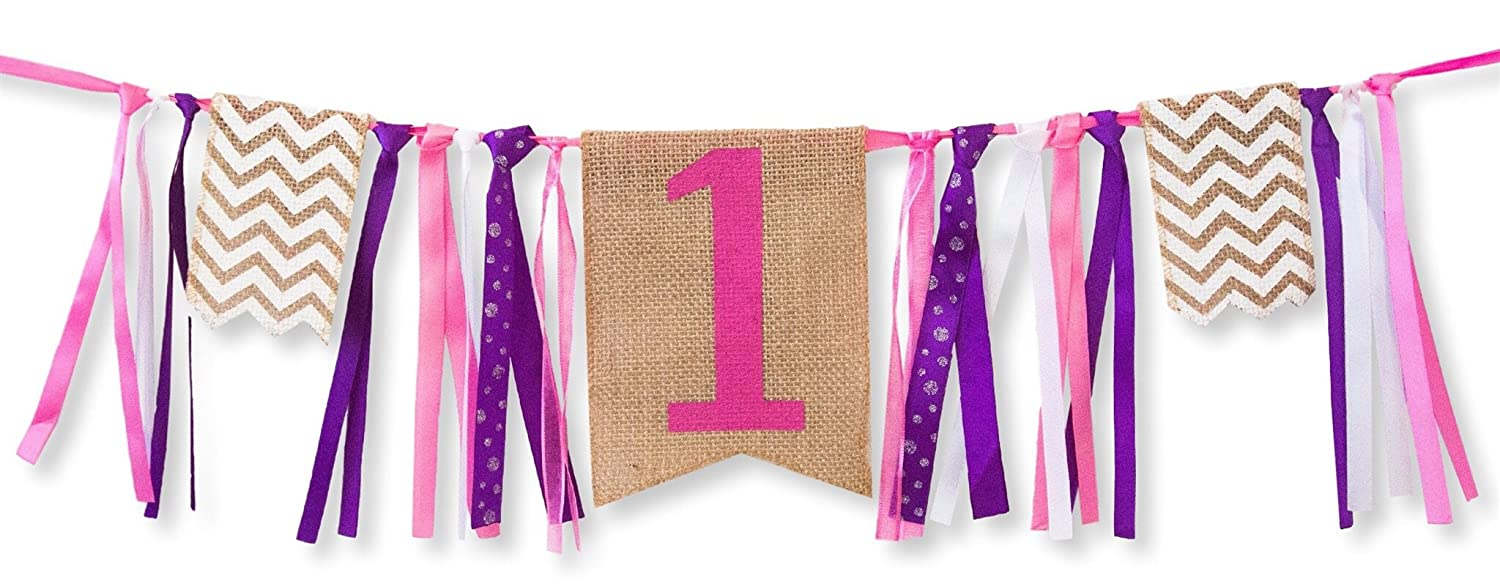 Amazon.com: First Birthday Decorations - 1st Birthday - Burlap ...