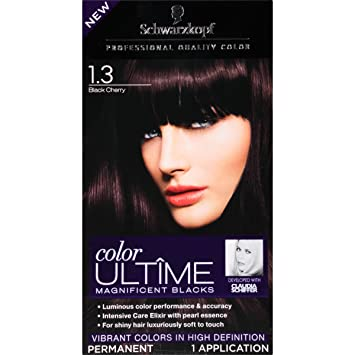 schwarzkopf ultime hair color cream 13 black cherry 203 ounce - Hair Color Black Cherry