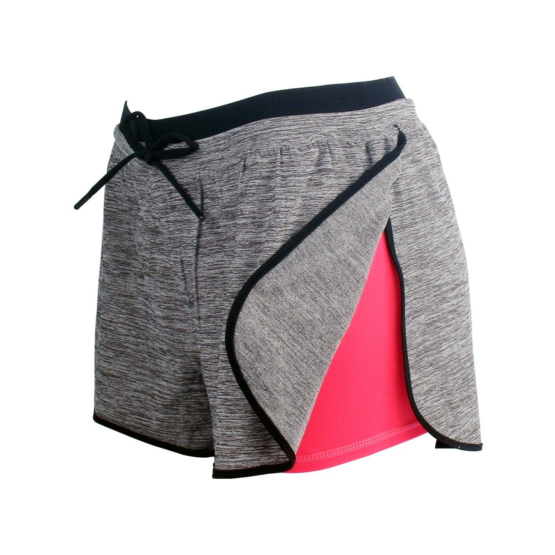 RIBOOM Women Workout Fitness Running Shorts, Performance Stretch Sport Shorts