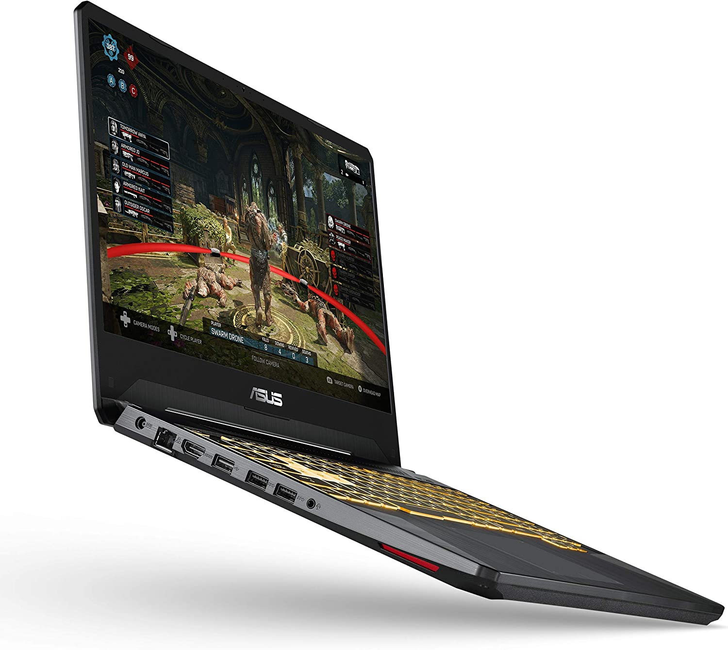 "ASUS TUF (2019) Gaming Laptop, 15.6"" 120Hz Full HD IPS-Type, AMD Ryzen 7 3750H, GeForce GTX 1660 Ti, 16GB DDR4, 256GB PCIe SSD + 1TB HDD, Gigabit WiFi 5, Windows 10 Home, TUF505DU-EB74 (Renewed)"